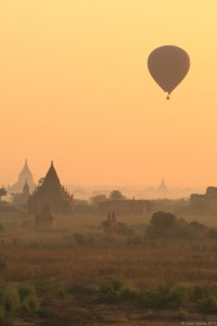 Balloons over bagan, Myanmar
